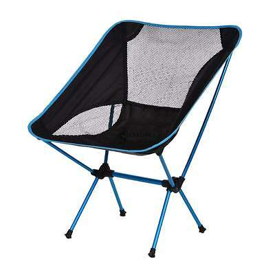 Portable Folding Chair Fishing Seat Stool w/ Backpack For Camping Hiking Beach