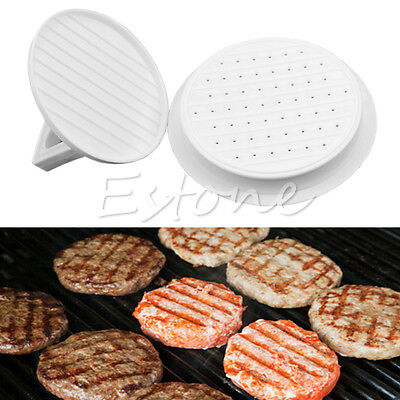 Plastic Hamburger Meat Beef Maker Grill Burger Patty Press Kitchen Mould Mold