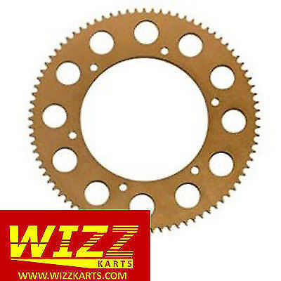 74t High Quality 219 Gold Annodised Alloy Kart Sprocket FREE POSTAGE WIZZ KARTS