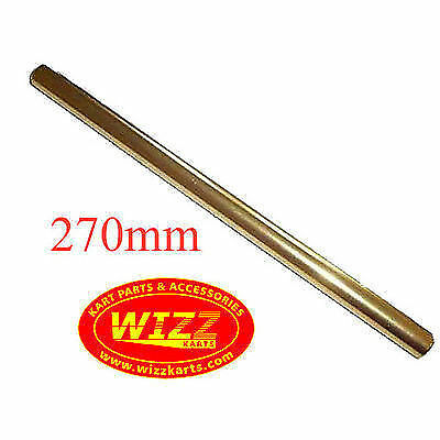 M8 x 270mm Gold OTK Tony Kart Type Alloy Round Track Rod WIZZ KARTS