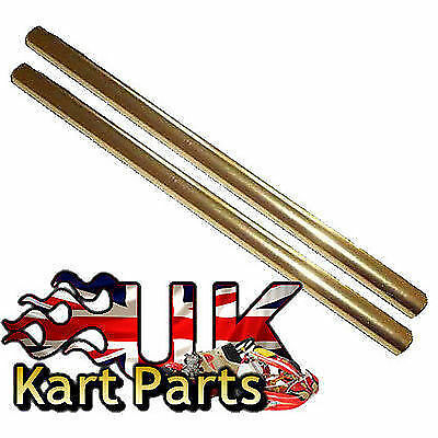 KART Pair of M8 x 260mm Gold Alloy Round Track Rods High Quality Best Price