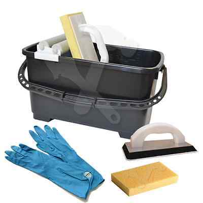 Pro Tiler Grouting Kit (Trade) Washboy Tiling Cleaning Kit Grout Bucket