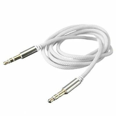 Audio Kabel weiß NEU 3,5 mm Klinke 1m Klinkenkabel AUX Stereo MP3 Phone PC