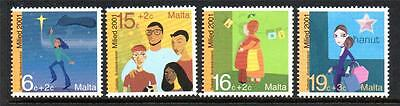 Malta Mnh 2001 Sg1239-1242 Christmas Set Of 4