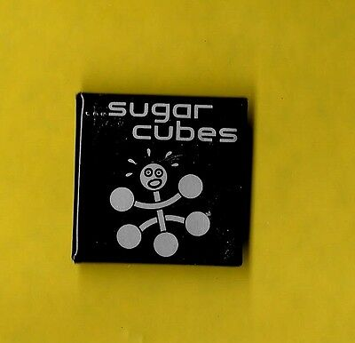 Sugarcubes Bjork 1980 tour pinback button badge sold on tour RR sq