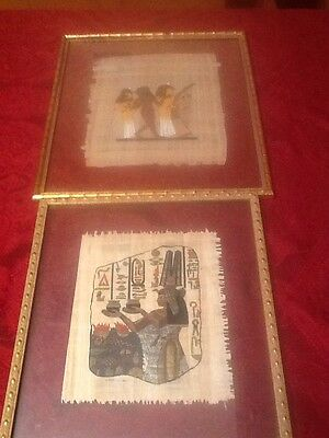 Papyrus Paper Art gold framed painting pictures ,Egyptian Women