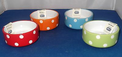 "Mason Cash 8Cm 3"" Polka Dot Rabbit Hamster Gerbil Rat Mouse Guinea Pig Food Bowl"