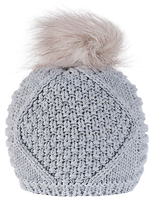 Women Ladies Girls Winter Beanie Hat Pom Pom Knitted Fashion Ski Warmth Hats LA