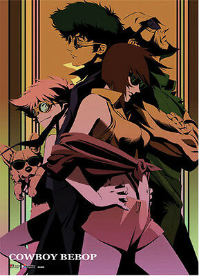 Cowboy Bebop Spike and Faye Wall Scroll Poster Anime NEW