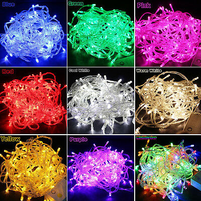 100/200LED Christmas Xmas Garden Party Wedding LED String Twinkling Fairy Lights