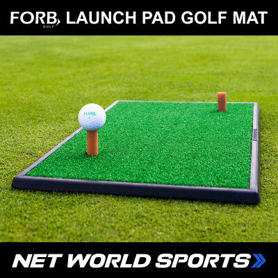 FORB Launch Pad Golf Practice Mat (60cm x 30cm Portable Fairway Hitting Mat)