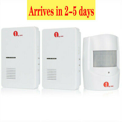 Wireless Motion Sensor Detector Door Gate Entry Bell Chime Alarm W/ 2 Receivers