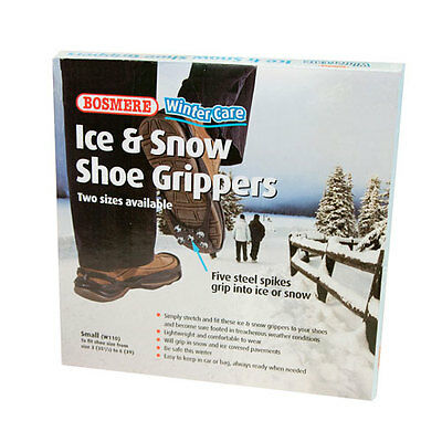Anti Slip ICE & SNOW SHOE GRIPS Small for Sizes 3 to 6 Be Safe in Winter  2377-1