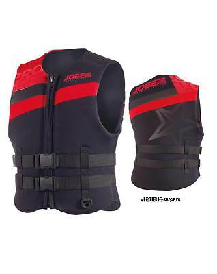 Gilet néoprène Progress Neo Vest Men Red Jobe - Norme CE ISO - jetski - PWC
