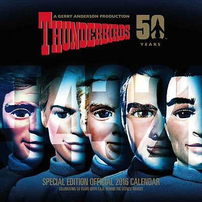 Thunderbirds - 50 Years Special Edition - Wall 2016 Calendar - New & Sealed - TV