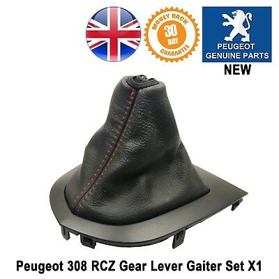 Peugeot 308 CC Gearsitck Gaiter & Base Gear Lever Leather New Genuine Black
