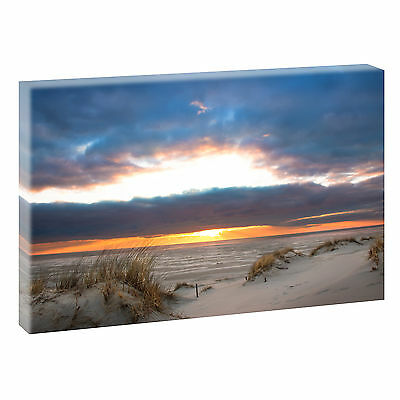 sonnenuntergang bild strand meer keilrahmen leinwand poster xxl 150 cm 50 cm 483 eur 28 50. Black Bedroom Furniture Sets. Home Design Ideas