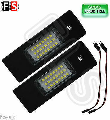 2 X Bmw Car Number Licence Plate Lights Ice White Led 18Smd Canbus Error Free