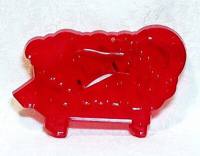 Vintage Design HRM Red Plastic Cookie Cutter - Baby Jesus The Nativity Christmas