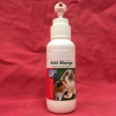 Anti-Mange Treatment & Prevention Mange Mite Infestations Rabbits Guinea Pig Rat
