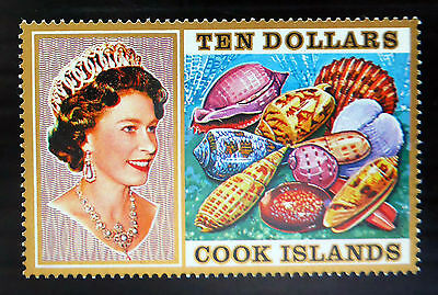 COOK ISLANDS 1975 $10 Shells SG487 U/M MNH SNEW LOWER PRICE FP4948