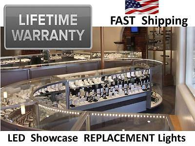LIFETIME WARRANTY - Jewelry - Pawn - Antique - Showcase Display Case LIGHTS LED
