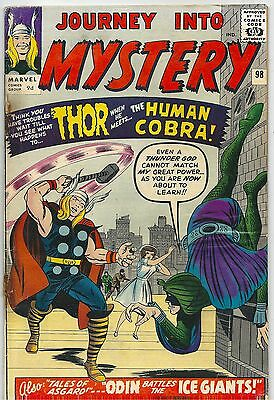 Journey Into Mystery With Thor 98 Marvel Silver Age 1963 1ST Human Cobra app