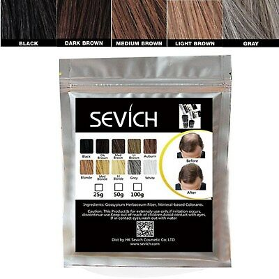 Sevich HAIR BUILDING Fibers Bulk Bag MANY COLORS 100g KERATIN FREE DELIVERY UK