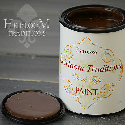 Chalk Type Paint Heirloom Traditions Paint Espresso Brown Furniture Paint DIY