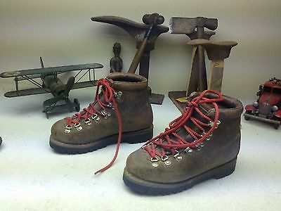 Vintage Tecnica  Brown Leather Lace Up Mountaineering Hiking Boots 5.5-6.m