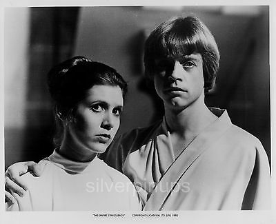 """Orig MARK HAMILL - CARRIE FISHER on-set.. """"THE EMPIRE STRIKES BACK"""" by WHITEAR"""