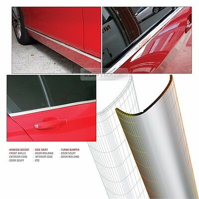 Chrome Silver Flexible Edge Car Accessory Garnish Trim Cover For All Vehicle