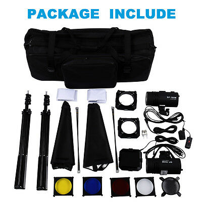 Photography studio kit Photography Set Soft Umbrella Lighting Kit Flash Light