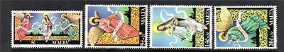 Malta Mnh 1994 Sg974-977 Christmas Set Of 4