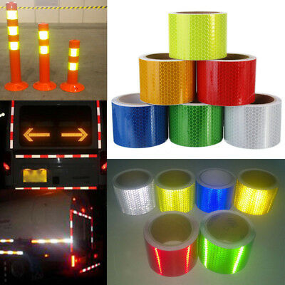 50mm x 3m/Roll Reflective Traffic Car Safety Warning Tape Self Adhesive Sticker