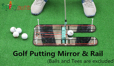 Spicybuys Golf Putting Mirror & Rail Alignment Practice Training Aid Portable