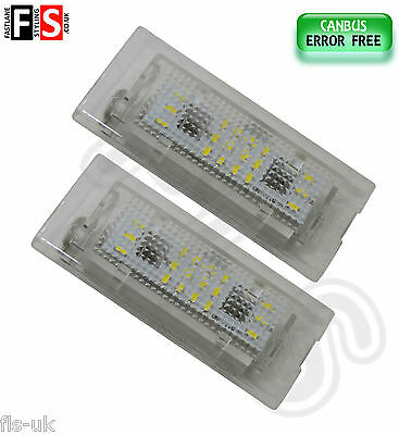 2 X Bmw X5 E53 X3 E83 Car Number Plate Lights White Led 18Smd Canbus Error Free