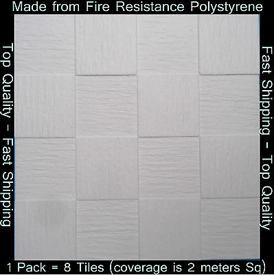 Polystyrene Ceiling Tile Wall Panels DIY Decorating Safety Approved 2M² T138