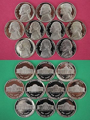 1990 1991 1992 1993 1994 1995 1996 1997 1998 1999 Proof Jefferson Nickels