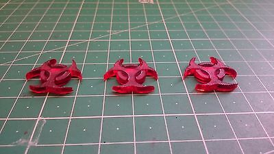 Star Wars X Wing Miniatures Token x3 Ion Crytical Red Transparent