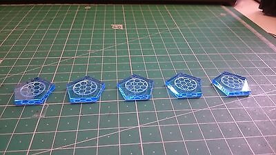 Star Wars X Wing Miniatures Token x5 Blue Shield Tokens