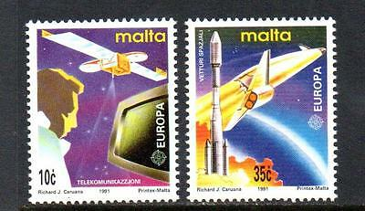 Malta Mnh 1991 Sg888-889 Europa: Europe In Space Set Of 2