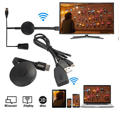 Chromecast Streaming Media Player Wifi Mirascreen Video Hdmi Clone Google