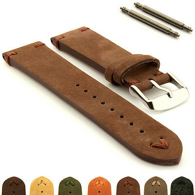 Suede Genuine Leather Old Style Watch Strap Band 18 20 22 24 Blacksmith Plus MM