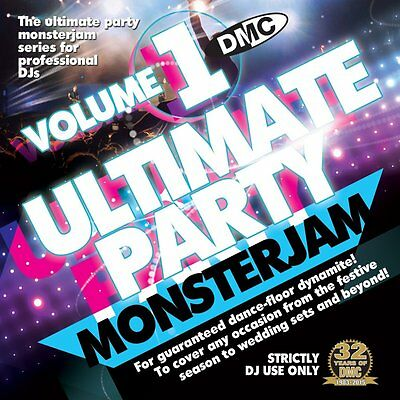DMC Ultimate Party Monsterjam Vol 1 54 Tracks in One Continuous Megamix DJ CD