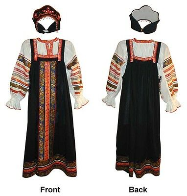 **russian Traditional Black Women Sarafan** - North Style!