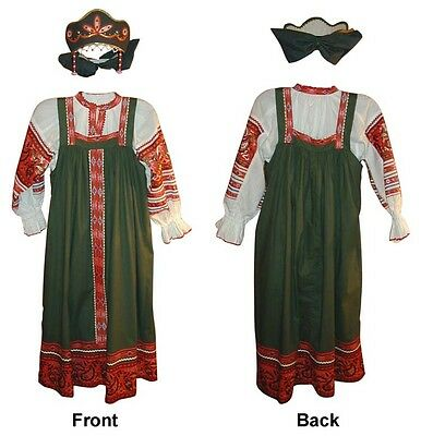 *russian Traditional Green Women Sarafan* - North Style