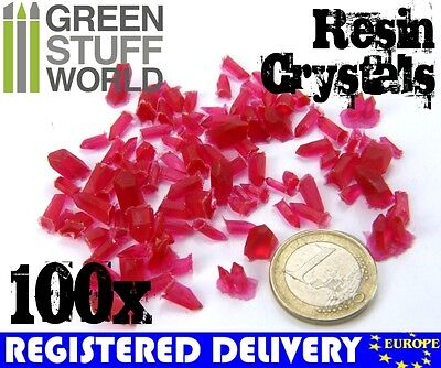RED Resin Crystals - for Miniature Bases Warhammer Model Scenery Landscape
