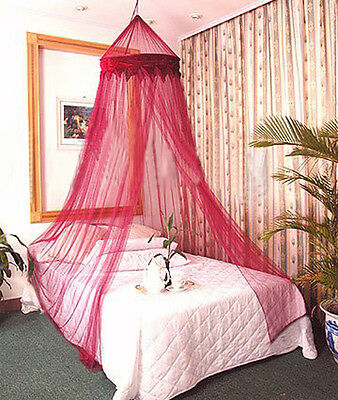 BURGANDY BED CANOPY Bedroom Netting Mosquito Net Curtains ...