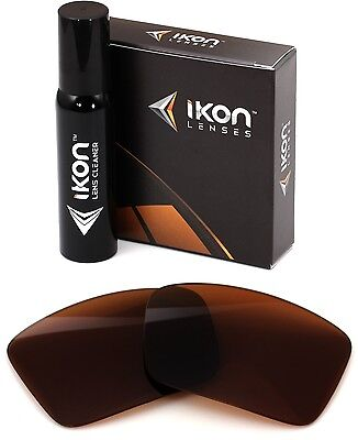 Polarized IKON Replacement Lenses For Oakley Triggerman Sunglasses Bronze/Brown